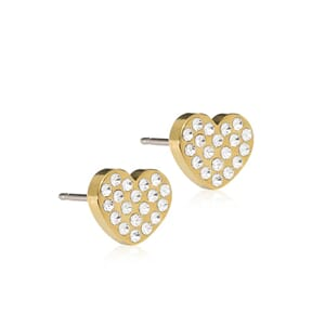 Golden Titanium Brilliance Heart 8mm Crystal