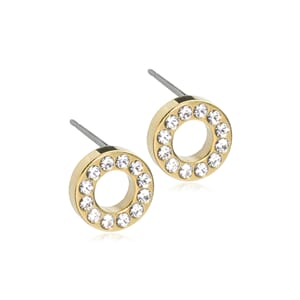 Golden Titaniu Brilliance Puck Hollow 8mm Crystal
