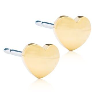 Golden Titanium Heart 5mm