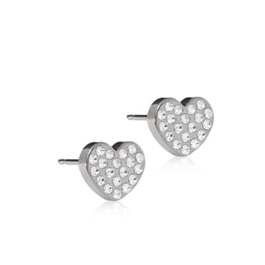 Natural Titanium Brilliance Heart 8mm Crystal