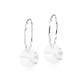 Ear Ring Round Crystal Diamond