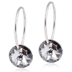 Ear Ring Round Black Diamond